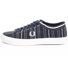 Fred Perry B8267W Kendrick Tipped Cuff Dark Navy Trainers Brand New Shoes