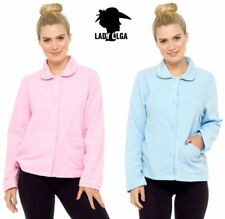 Ladies Womens Daisy Fleece Button Through Bed Jackets By Lady Olga Size UK 10-24