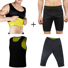 CANOTTA + PANTALONE SNELLENTE UOMO HOT SHAPERS TRAINING DIMAGRANTE PALESTRA