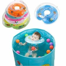 Inflatable Float Ring Baby Infant Swimming Neck Safety Aids Bath Swimming Beach