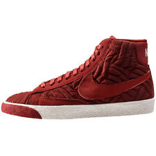 Nike 857664-600 Blazer Mid PRM SE Dark Red Womens Trainers Brand New Shoes Boxed