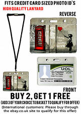 BANKSY PHONE BOX ID BADGE HOLDERS LANYARD CREDIT STUDENT WORK PASS CARD POUCH