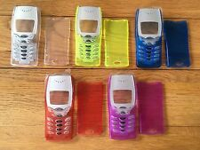 MOBILE PHONE FRONT & BACK FASCIA HOUSING COVER & KEYPAD NOKIA 8210 -TRANSPARENT