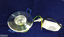 New 5W High Power Aluminum Alloy LED Ceiling Recessed Downlight polish chrome