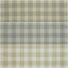 iLiv Padstow Tartan Check Woven Curtain Upholstery Blind Fabric | 3 Colours