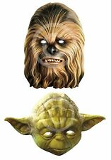 Chewbacca O YODA # CARTA Maschera Costume Star Wars Book Week accessorio