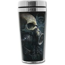 Spiral Direct BIO- SKULL THERMO TRAVEL MUG FLASK 0.45L/Goth/Steampunk/Gas mask