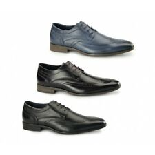 Azor CATANIA Mens Leather Formal Lace Up Chisel Toe Derby Brogues Shoes