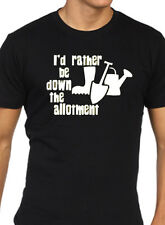 ID Rather Be por las Allotment Camiseta JARDINERO REGALO REGALO DIVERTIDO HOMBRE