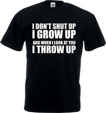 STAND BY ME T-SHIRT - 'I Throw Up 'Maglietta, Classic, tutte le taglie/COLORI