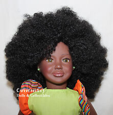 African Black doll Natural Hair Afro 18 inch NEW