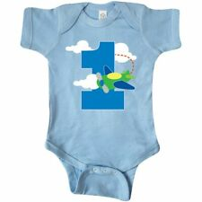 Inktastic 1st Birthday Airplane Pilot 1 Year Boys Infant Bodysuit Old One First