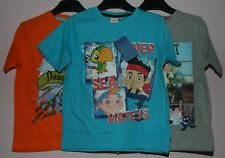 Disney JAKE & THE NEVERLAND PIRATES Short-Sleeved Cotton T-Shirt - NWT  3-6 yrs