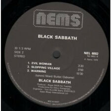 BLACK SABBATH S/T LP VINYL UK Issue Pressed In France Nems 1976 7 Track
