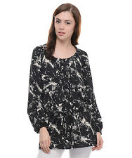 Moderno Women's Black Casual Tunic  (MOD004)