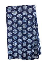 100% pure cotton hand block printed jaipuri blue summer fabric dress material