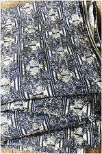 100% pure cotton hand block printed jaipuri summer fabric dress blue material