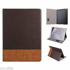 "ProElite Smart Luxury Case Stand Cover for Apple iPad 9.7"" 2017 Model (DBrown)"