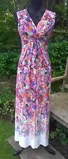 BRAND NEW M&S MARKS & SPENCER FLORAL MULTI COLOR STRETCH MAXI DRESS SZ 10,12,14