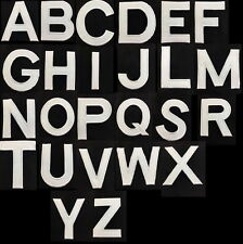 white Letters Alphabet A to Z Sew Iron on Motif Patch Applique 3 inch