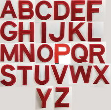 Red Letters Alphabet A to Z Sew Iron on Motif Patch Applique 3 inch