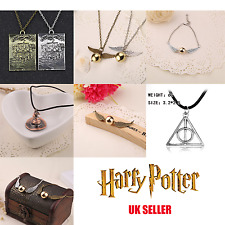 HARRY POTTER Deathly Hallows Necklace Quidditch Golden Snitch Bracelet Marauders