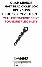 QUICK CHANGE/ KWIK LOK / HELI / CHOD TYPE 2 FLEXI RING SWIVELS SIZE 8 - CARP