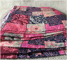 100% Mulmul Cotton Printed Summer Fabric Pink Dress Material by meter Inhika