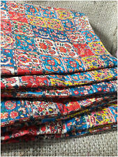 Mulmul Cotton Printed Summer Fabric Red Square Dress Material by meter Inhika