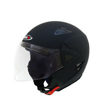 SHIRO HELMETS - Casco jet SHIRO SH-60 Manhathan negro mate
