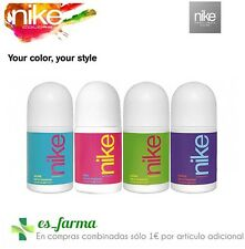 NIKE DESODORANTE MUJER DEO ROLLON WOMAN 50 ML PURPLE AZURE GREEN PINK ROLL-ON