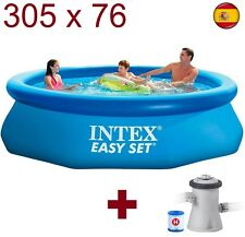 "Piscina hinchable de plástico desmontable INTEX 305cmX76cm 10""x30"" 3.05m EASY SE"
