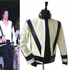 Michael Jackson MJ Michael Jackson White vocal concert Thriller Jacket Outwear P