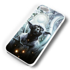 YODA DESIGN WHITE PHONE CASE COVER FITS IPHONE (#WH)