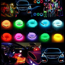 1M to 5M Neon 3/12V LED Light Strip Glow EL Wire String Rope USB Controller Lamp
