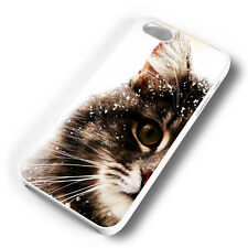 FLUFFY CAT SNOW WHITE PHONE CASE COVER FITS IPHONE (#WR)