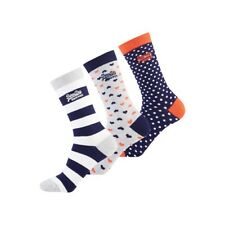 Lot 3 Chaussettes Superdry Heart Sock Grey / Navy / White