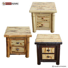 Chevet commode table de chevet Beisteltisch bambou armoire chevet