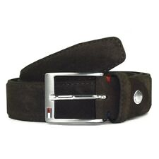 Tommy Hilfiger PIETER Belt 90,95,100,105 Wildleder Herren Gürtel BRAUN Leather