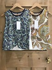 Zara top size S 8 & M 10 PAISLEY FLORAL blue green & yellow red FLORAL BNWT