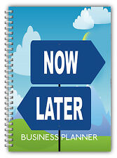 NEW A5 STANDARD BUSINESS DAILY PLANNER, JOBS TO DO, DAILY SCHEDULE, NOW LATER