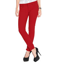 Haltung Women's Skinny Fit Mid Rise Red Trouser (HALTUNG-WT-RED)