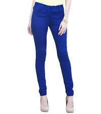 Haltung Women's Skinny Fit Mid Rise Rblue Trouser (HALTUNG-WT-RBLUE)