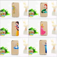 COVER disney ariel elsa trilli in Silicone per iphone 7plus 7  6plus 6 6s 5 5s