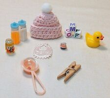 12 PC DOLLHOUSE BABY ESSENTIALS FOR GIRL PLAYSCALE BARBIE SIZE