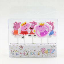 Peppa Pig Mummy Daddy George Cupcake Birthday Cake Candles Toppers
