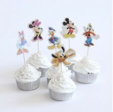 Mickey Mini Mouse Cupcake Toppers Wrappers Birthday Cake Candles