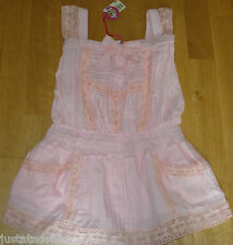 Nolita Pocket girl Coyote summer pink lace dress  3-4 y  BNWT designer