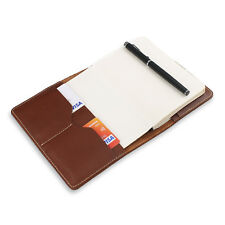 Classic Leather A6 Notebook Cover with 2 Card Holders Journal Planner Cover