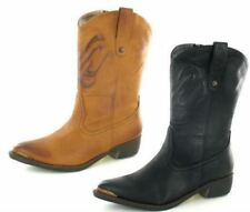 Ladies Spot On Ankle Cowboy Boots F50170 ~ K